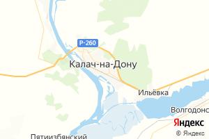 Карта г. Калач-на-Дону Волгоградская область