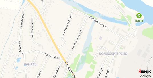1-я Волжская улица в Балахне с номерами домов на карте. Спутник и схема онлайн