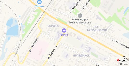 Территория гк ул Горького/р-он детской больницы в Балахне с номерами домов на карте. Спутник и схема онлайн