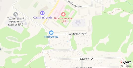 Территория гк ул Олимпийская у дома 11 в Балахне с номерами домов на карте. Спутник и схема онлайн