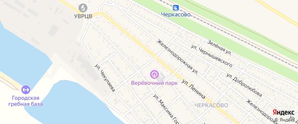 Переулок Чернышевского на карте Калача-на-Дону с номерами домов