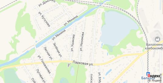 Улица Нахимова в Балахне с номерами домов на карте. Спутник и схема онлайн