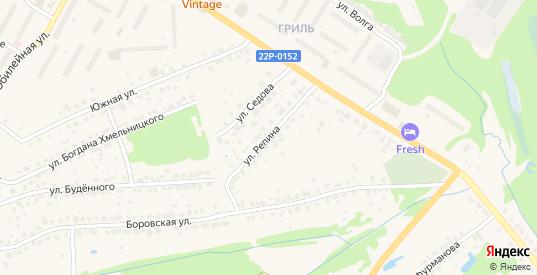 Улица Репина в Балахне с номерами домов на карте. Спутник и схема онлайн