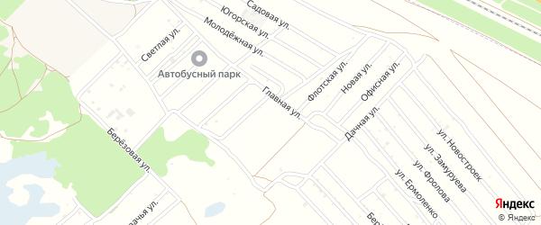 Улица Олеси на карте садового некоммерческого товарищества Водника с номерами домов