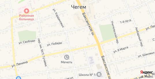 Микрорайон Агропромгородок в Чегеме с номерами домов на карте. Спутник и схема онлайн
