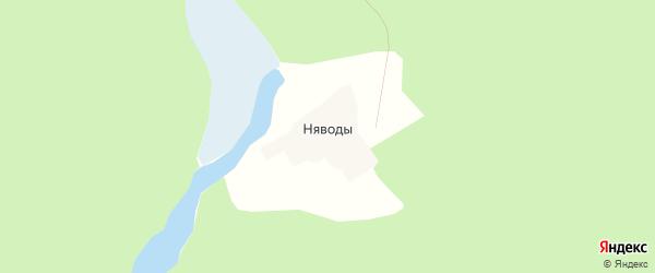 Карта поселка Нявод в Архангельской области с улицами и номерами домов