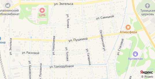 Улица Пушкина в Балахне с номерами домов на карте. Спутник и схема онлайн