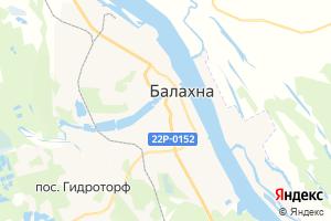 Карта г. Балахна Нижегородская область