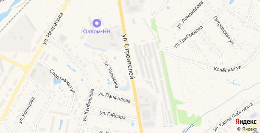 Улица Строителей в Балахне с номерами домов на карте. Спутник и схема онлайн