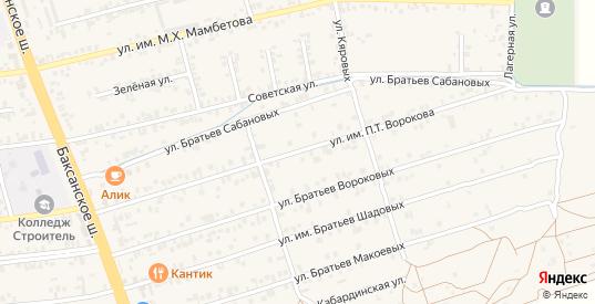 Улица Им Ворокова П.Т. в Чегеме с номерами домов на карте. Спутник и схема онлайн