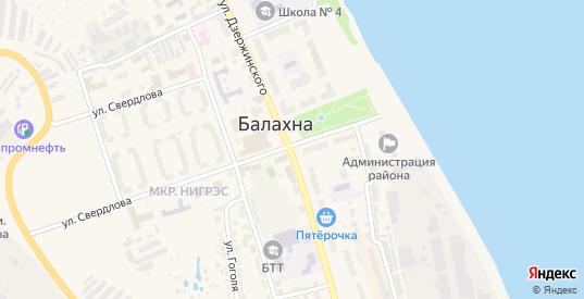 Территория гк ул Синякова-Строителей в Балахне с номерами домов на карте. Спутник и схема онлайн