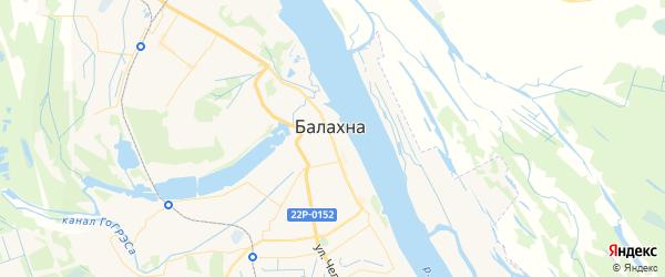 Карта Балахны с районами, улицами и номерами домов