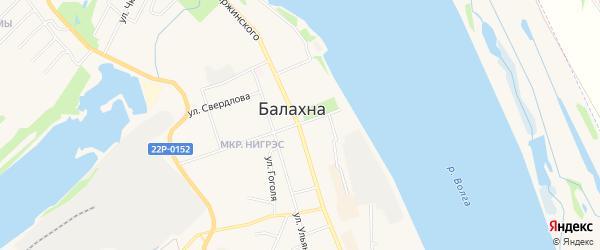 Территория гк Челюскин на карте Балахны с номерами домов