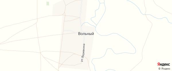 Карта Вольного хутора в Ростовской области с улицами и номерами домов