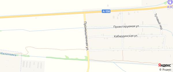 Промышленная улица на карте села Баксаненка Кабардино-Балкарии с номерами домов