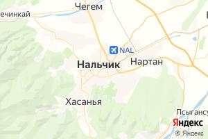 Карта г. Нальчик Кабардино-Балкарская Республика