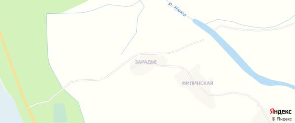Карта Ламповской деревни в Архангельской области с улицами и номерами домов
