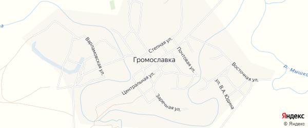 Карта села Громославки в Волгоградской области с улицами и номерами домов