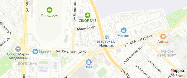 Улица П.Морозова на карте Нальчика с номерами домов