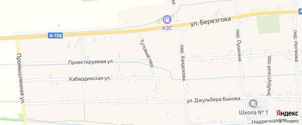 Тутовый переулок на карте села Баксаненка Кабардино-Балкарии с номерами домов