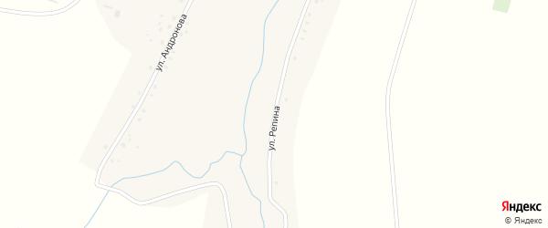 Улица Репина на карте села Покровска Мордовии с номерами домов