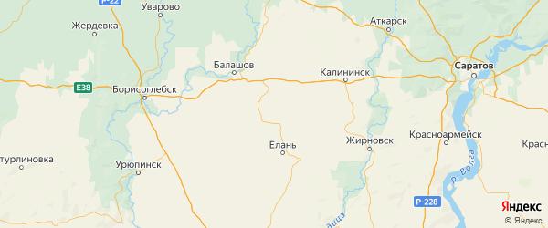 Карта Самойловского района Саратовской области с городами и населенными пунктами