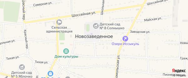 Солнечная улица на карте Нового поселка Ставропольского края с номерами домов
