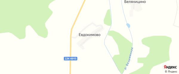 Карта деревни Евдокимово (Бриляковский с/с) в Нижегородской области с улицами и номерами домов