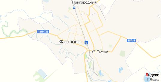 Карта Фролово с улицами и домами подробная. Показать со спутника номера домов онлайн