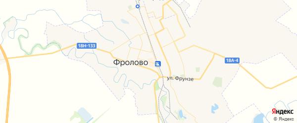Карта Фролово с районами, улицами и номерами домов