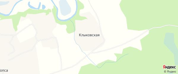 Карта Клыковской деревни в Архангельской области с улицами и номерами домов