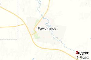 Карта с. Ремонтное Ростовская область