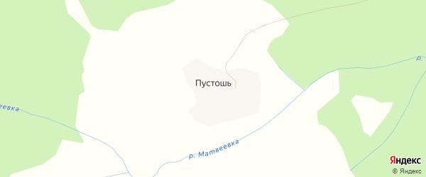 Карта деревни Пустоши в Вологодской области с улицами и номерами домов