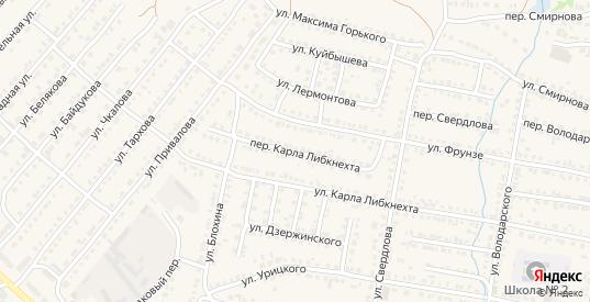 Переулок Карла Либкнехта в Нижнем Ломове с номерами домов на карте. Спутник и схема онлайн