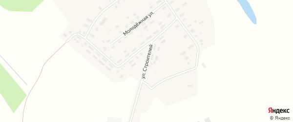 Улица Строителей на карте Яковлевской деревни Архангельской области с номерами домов
