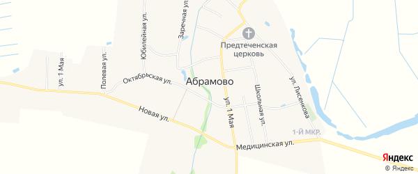 Карта села Абрамово в Нижегородской области с улицами и номерами домов