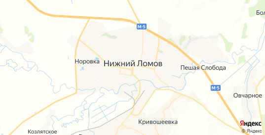 Карта Нижнего Ломова с улицами и домами подробная. Показать со спутника номера домов онлайн