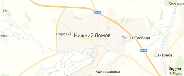 Карта Нижнего Ломова с районами, улицами и номерами домов