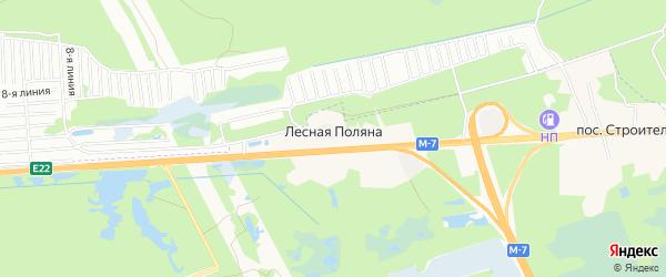 Карта поселка Лесной Поляны города Дзержинска в Нижегородской области с улицами и номерами домов
