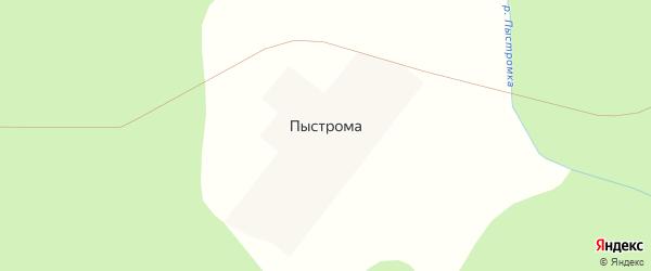 Улица Дружбы на карте поселка Пыстромы Архангельской области с номерами домов