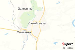 Карта пгт Самойловка Саратовская область