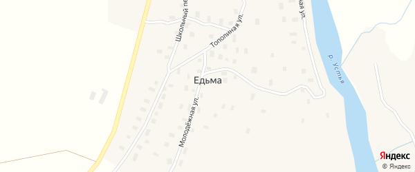 Школьный переулок на карте деревни Едьмы с номерами домов