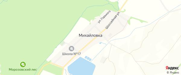 Карта поселка Михайловки в Ставропольском крае с улицами и номерами домов