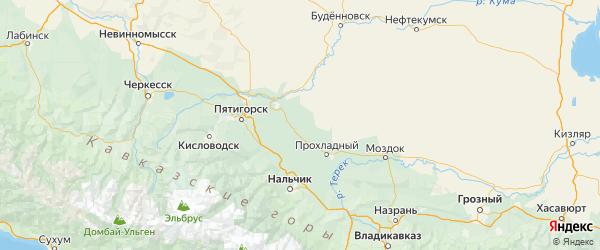 Карта Кировского района Ставропольского края с городами и населенными пунктами