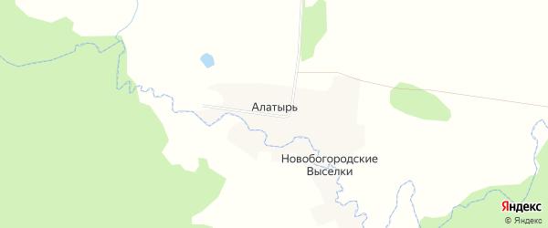 Карта деревни Алатыря города Первомайска в Нижегородской области с улицами и номерами домов
