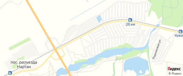 Карта садового некоммерческого товарищества Алмалы в Кабардино-Балкарии с улицами и номерами домов