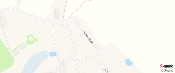 Луговая улица на карте села Ефаево Мордовии с номерами домов