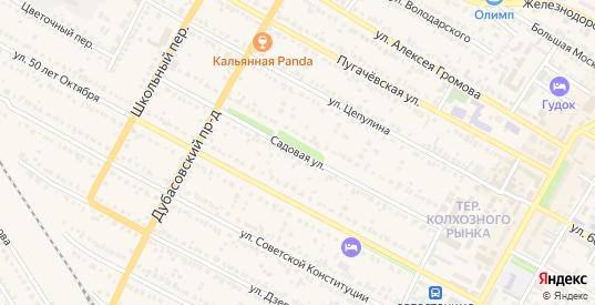 Садовая улица в Ртищево с номерами домов на карте. Спутник и схема онлайн