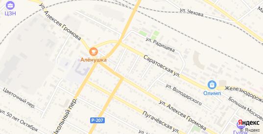 Улица Степана Разина в Ртищево с номерами домов на карте. Спутник и схема онлайн