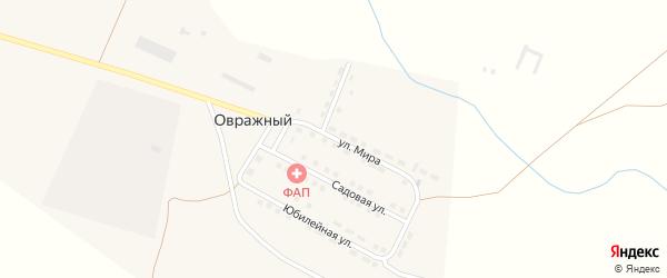 Тихий переулок на карте Овражного поселка Волгоградской области с номерами домов